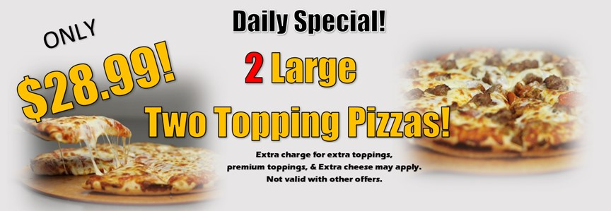 2 large 2 topping mobile